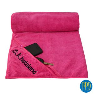 Sports towel with pocket